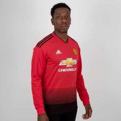 adidas Manchester United 18/19 - Maillot de Foot Réplique Domicile M/L