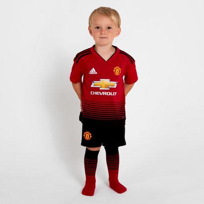 adidas Manchester United 18/19 - Kit de Foot Réplique Domicile Jeunes Enfants