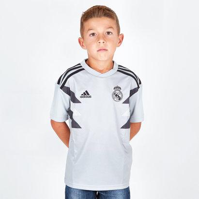 adidas Real Madrid 18/19 - Maillot de Foot Entraînement Pré-Match Enfants