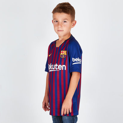 Nike FC Barcelone 18/19 - Maillot de Foot Réplique Stadium Domicile Enfants