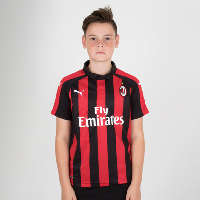 Puma AC Milan 18/19 - Maillot de Foot Réplique Domicile Enfants