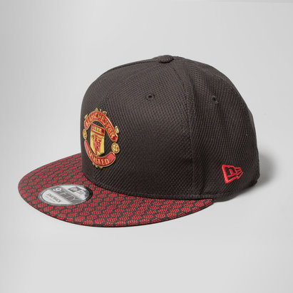 New Era Manchester United 9Fifty - Casquette de Foot Snapback à Visière Hex Weave