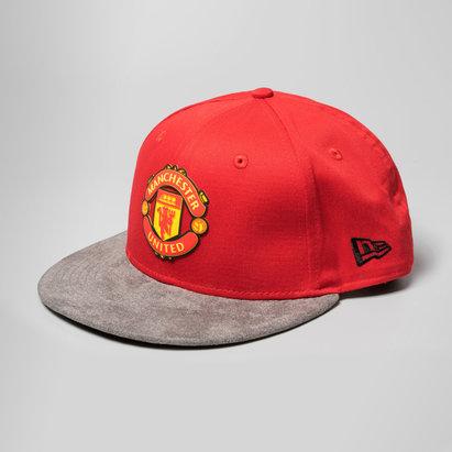 New Era Manchester United 9Fifty - Casquette de Foot Snapback à Visière en Daim