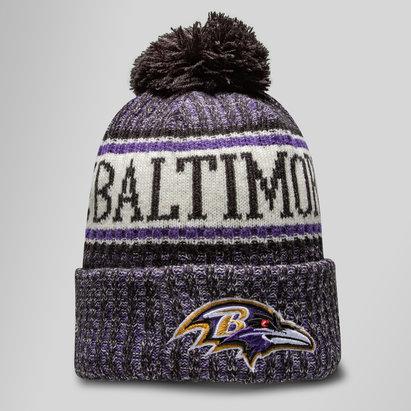New Era Baltimore Ravens NFL Sideline - Bonnet à Pompon