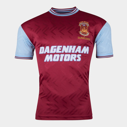 Score Draw West Ham United 1994 No6 - Maillot de Foot Rétro