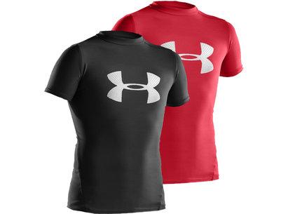 Under Armour HeatGear Junior Compression Big Logo Short Sleeve T-Shirt