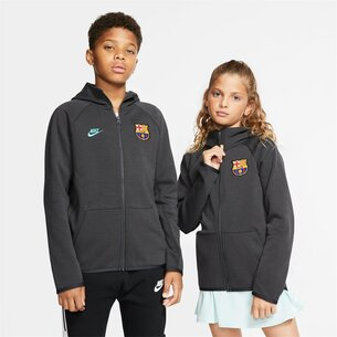 FC Barcelona Nikesportswear Tech Fleece Full Zip Hoodie Junior Boys