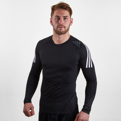 adidas AlphaSkin SPR 3 Stripe - Haut de Compression M/L