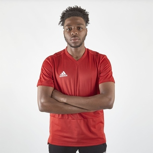 adidas Maillot d'entrainement de football Condivo 18 en rouge