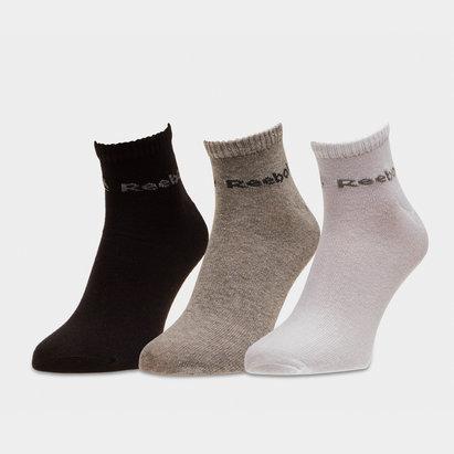Reebok ACT Core 3 Pack Ankle Socks