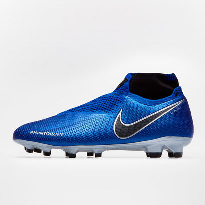 Nike Phantom Vision Elite D-Fit, Crampons bleu de Football, Terrain sec