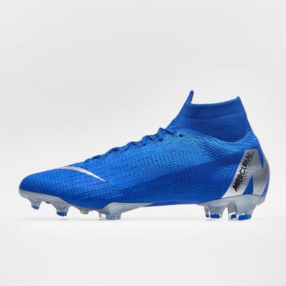 Nike Mercurial Superfly VI, Crampons de Football Elite, Terrain sec