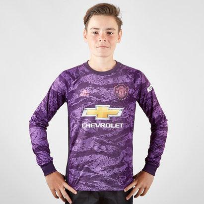 adidas Maillot manches longues pour enfants, Gardien de but Manchester United 2019/2020 Domicile
