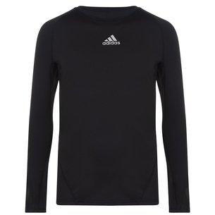 adidas Alphaskin Sport, T-shirt de compression noir, manches longues