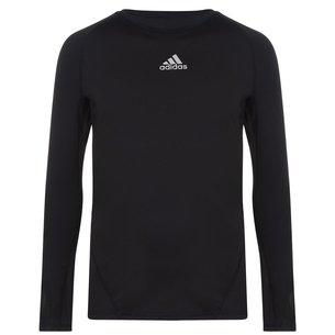 adidas Alphaskin Sport, T-shirt de compression noir, manches longues