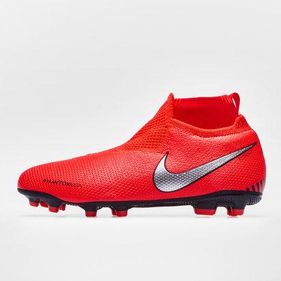 Nike Phantom Vision Elite, Crampons de Football pour enfant défenseur, Terrain sec