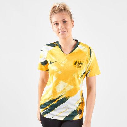 Nike Maillot manches courtes de Football féminin Réplica, Equipe d'Australie domicile 2019