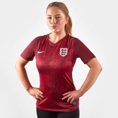 Nike Maillot manches courtes de Football féminin Réplica, Equipe d'Angleterre extérieur 2019