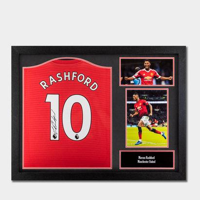 Cadre avec Maillot de Football signé Marcus Rashford Manchester 2018/2019