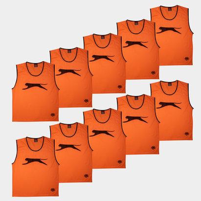 Slazenger Dossards d'entrainement Oranges pour enfants, lot de 10