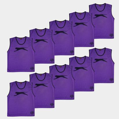 Slazenger Dossards d'entrainement violets pour enfants, lot de 10