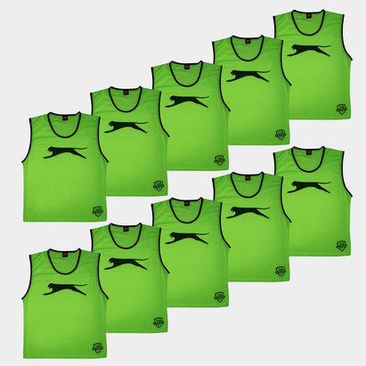 Slazenger Dossards d'entrainement verts pour adultes, lot de 10