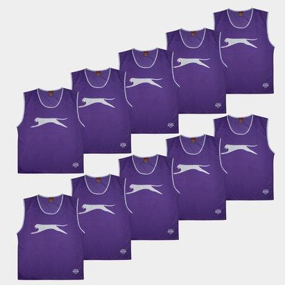 Slazenger Dossards d'entrainement bleu violets pour adultes, lot de 10