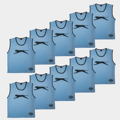 Slazenger Dossards d'entrainement bleu ciel pour adultes, lot de 10