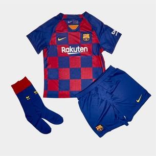 Nike FC Barcelone 2019/202 domicile, Réplique Tenue de Football complète pour enfants