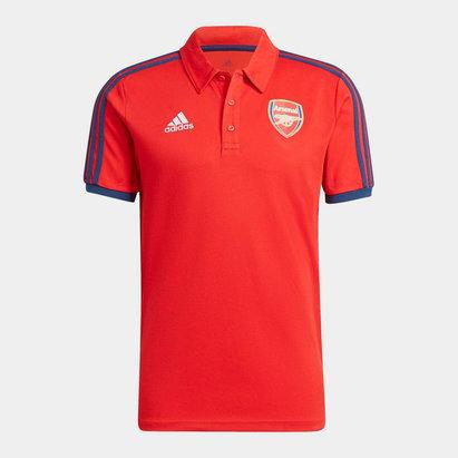 adidas Arsenal 3 Stripe Polo Shirt 2021 2022 Mens