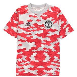 adidas Manchester United Pre Match Shirt 2021 2022 Junior