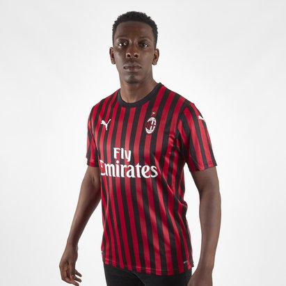 Puma Maillot authentique du AC Milan. Pour hommes, manches courtes