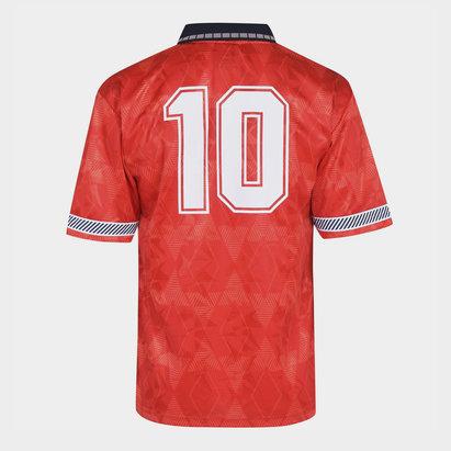 Score Draw England 1990 Away Shirt With Print