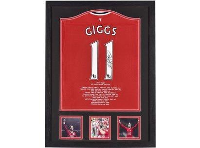 Team Maillot Manchester United signé à la main par Ryan Giggs