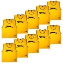 Dossards d'entrainement jaunes pour enfants, lot de 10