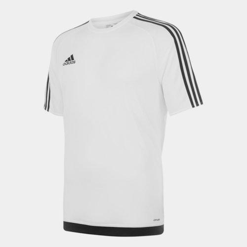 Sereno, 3 Bande, T-shirt pour hommes en Blanc et Noir