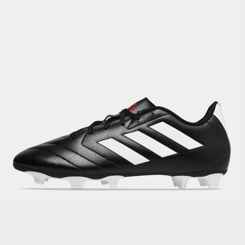 Crampons de football pour hommes, Terrain sec, adidas Goletto en noir et blanc