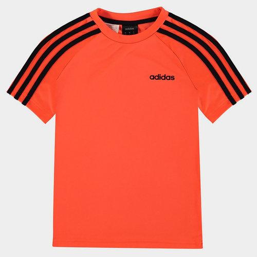 Sereno 3 Bandes, T-shirt Orange et noir pour enfants