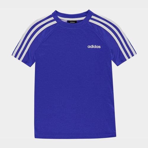 Sereno 3 Bandes, T-shirt bleu et blanc pour enfants