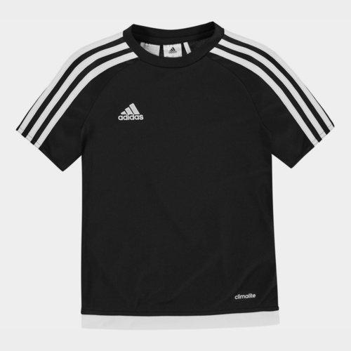 Sereno 3 Bandes, T-shirt noir et blanc pour enfants