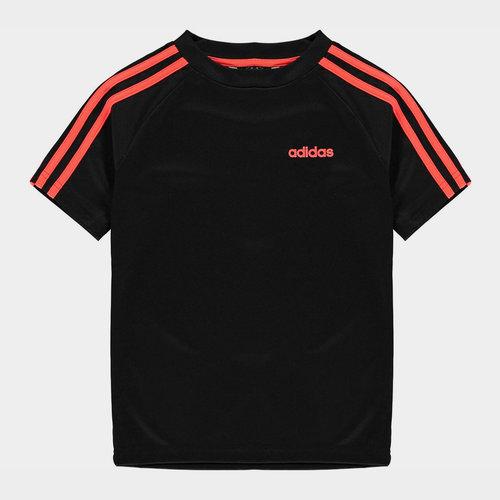Sereno 3 Bandes, T-shirt Blanc et noir pour enfants