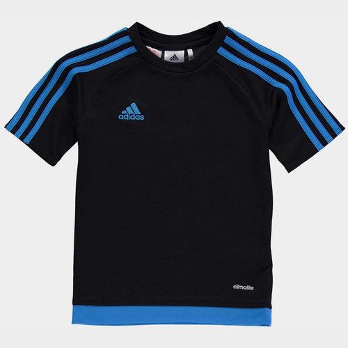 Sereno 3 Bandes, T-shirt Noir et bleu pour enfants