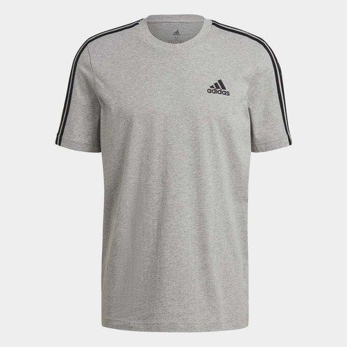3 Bandes, T-shirt gris/noir pour hommes