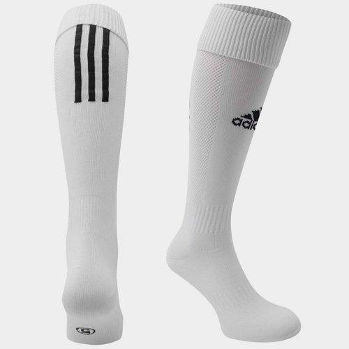 Chaussettes de football pour jeunes enfants adidas Santos en blanc