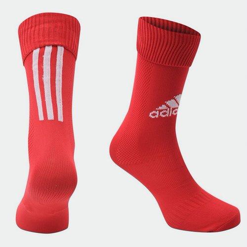 Chaussettes de football pour enfants adidas Santos en rouge