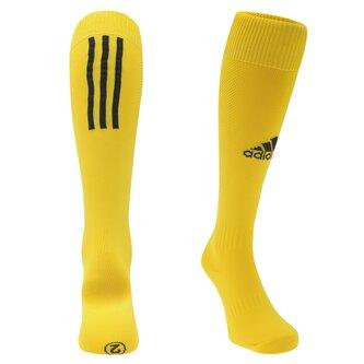 Chaussettes de football pour enfants adidas Santos, en jaune