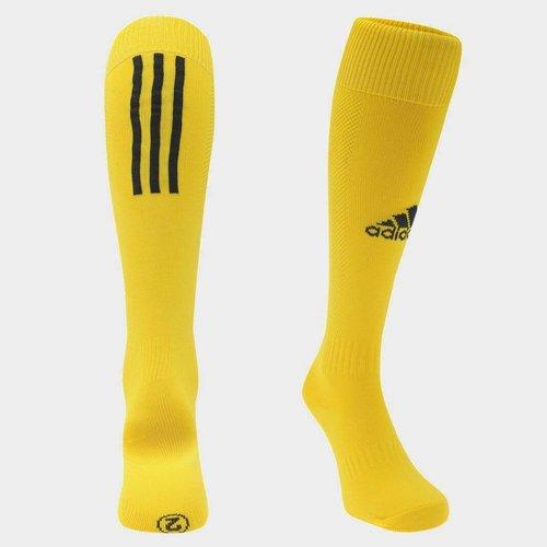Chaussettes de foot pour enfants adidas Santos, en jaune