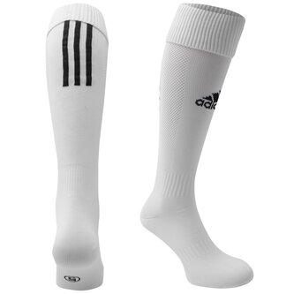 Chaussettes de football pour enfants, adidas Santos en blanc
