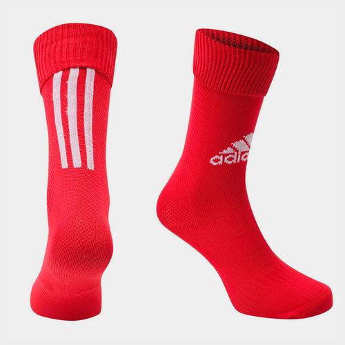 Chaussettes de football adidas Santos pour hommes en rouge