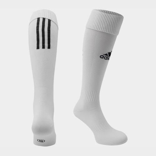 Chaussettes de football adidas Santos pour enfants en blanc